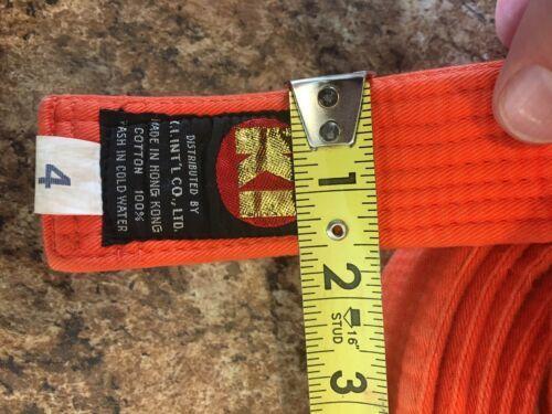 MARTIAL ARTS BELT Orange Size 4 KI International Karate image 3