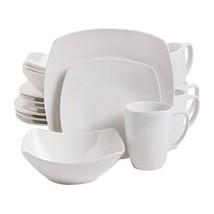 Gibson Home 102539.16RM Zen Buffetware 16 Piece Dinnerware Set, White di... - $52.11