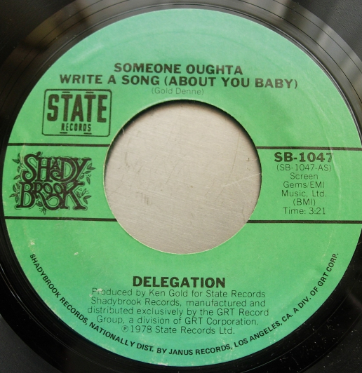 Delegation - Mr. Heartbreak / Someone Oughta Write a Song - Shady Brook SB-1047