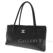 CHANEL Tote Bag Calf Leather Black CC Executive A67282 Authentic 5479245... - $2,117.94