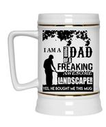 Cool Dad Beer Stein 22oz, Proud Dad Of An Awesome Landscaper Beer Mug - $26.99