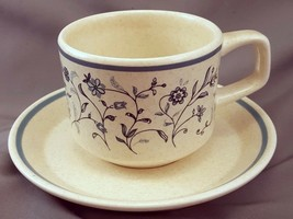 Lenox Blue Breeze Coffee Tea Cup and Saucer 8 oz Speckled Temperware Stoneware - $7.92