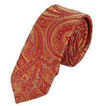 PS1093 Orange Creative Narrow Necktie Matching Sale For Bridegrooms Gift Box Set - $20.99