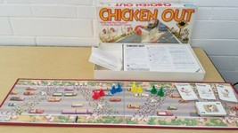 CHICKEN OUT VINTAGE BOARD GAME PARKER BROTHERS 100% COMPLETE  - $27.32