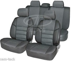 TOYOTA AVENSIS 03-08 SEAT COVERS Jacquard and leatherette  - $135.58