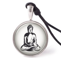VietsWay Buddha Necklace Pendants Pewter Silver - $7.99
