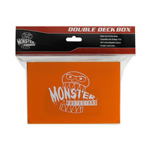 25x MONSTER PROTECTORS DOUBLE DECK BOX - Matte Orange - Magnetic Lock - $116.38
