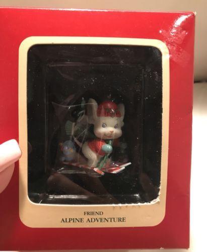 New In Box Carlton Cards Alpine Adventure Friend Ornament 1992