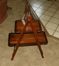 Mahogany 2 Tier Collapsable Pie or Muffin Table  (T319) - $199.00