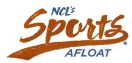 Ncl Norwegian Cruise Line Sports Afloat T-Shirt White Large Short Sleeve - $9.99