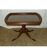 Mahogany Duncan Phyfe Coffee Table with Glass Serving Tray  (CT44) - $499.00