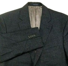 Daniel Cremieux Loro Piana Sport Coat Size 42 Regular Blue Check Two But... - $55.40
