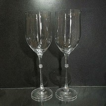 "2 (Two) MIKASA DUET Lead Crystal Water Glasses 10 1/8"" DISCONTINUED - $28.99"