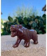 Purple Aventurine Tiger Figurine Cat Crystal Healing Spirit Animal Zoo 2... - $30.84