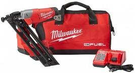 Milwaukee Angled Finish Nailer Kit 15-Gauge 18V Lithium-Ion Battery Char... - $439.95