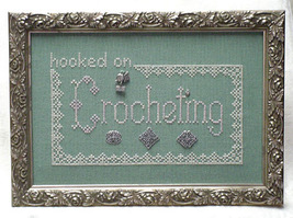 Hooked On Crocheting charms + cross stitch chart Handblessings - $11.70