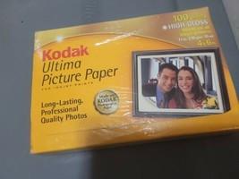 Kodak Ultima Photo Picture Paper 100 Sheet High Gloss 4 X 6 Box New Sealed - $11.88