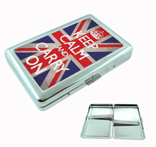 Cigarette Case Keep Calm and Carry On British Flag UK - $9.29