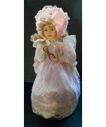 """16""""  Vintage Pink Clothes Blonde Porcelain Collector Doll with stand Cri... - $9.52"""