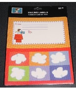 Peanuts Snoopy USPS Flying Ace mailing labels - NIP - $6.00