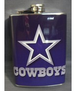 DALLAS COWBOYS CLASSIC LOGO 8oz STAINLESS STEEL FLASK NEW NFL - $11.02