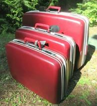 Vintage Samsonite 3 Pc. Set Suitcase Sentry Profile Wheels Hard Shell wi... - $130.54