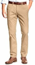 Tommy Hilfiger Men's Tailored Fit Flat Front Chino Pants Incense Khaki 34 X 30 - $23.75