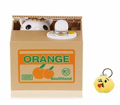 We pay your sales tax Emoji Keychain and Stealing Coin Money Orange Box ... - $25.39