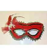 Spider-Girl Spider-Woman Costume Masquerade Lace Feather Mask - $12.59