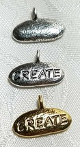 CREATE FINE PEWTER PENDANT CHARM   18x12x3mm image 1
