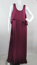 Liz Lange Maternity Maxi Dress Sleeveless Stretch Overlay Top Long Plus ... - $21.03