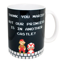 Super Mario Bros. Thank You Mario Coffee Mug Black - $13.98