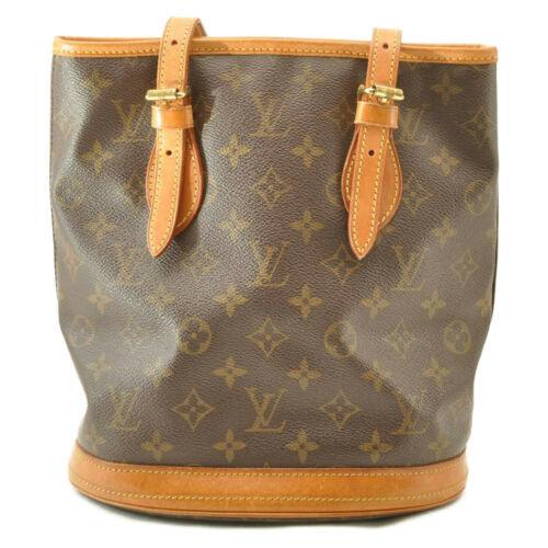 LOUIS VUITTON Monogram Bucket PM Shoulder Bag M42238 LV Auth cr194 **No Sticky