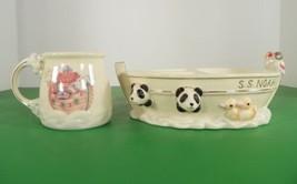 Lenox NOAH'S ARK 2-pc Child's Set Cup Mug and Divided Bowl - $59.35