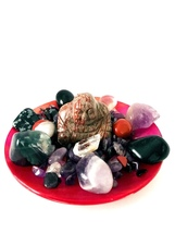 Protection Crystal House Kit With Red Wave Jasper Buddha! Gorgeous!! Lots Of Pro - $105.00