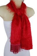 Sexy Women Red Color Soft Fabric Long Fringes Tassel Fashion Scarf Wrap ... - £9.13 GBP