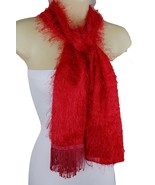 Sexy Women Red Color Soft Fabric Long Fringes Tassel Fashion Scarf Wrap ... - $11.75