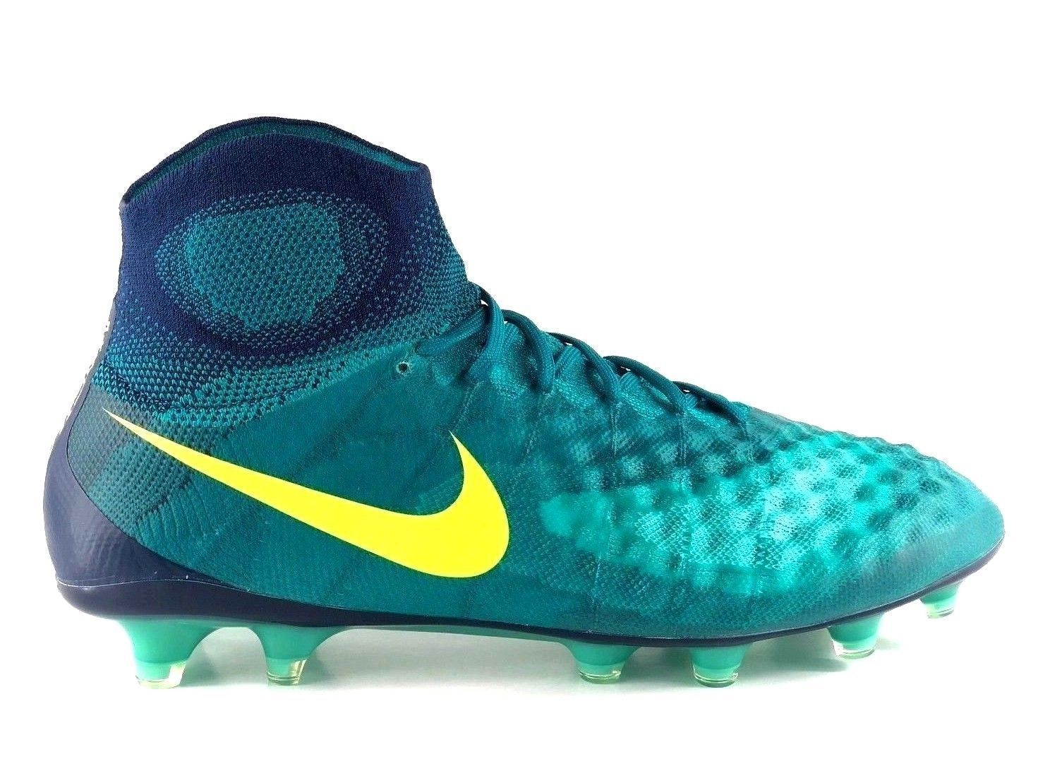 factory authentic 65209 8e4f9 57. 57. Previous. Nike Magista Obra II FG ACC Flood Light Green Firm Ground  Soccer Cleats Size 6