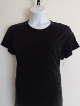 Womens Hanes Cotton S/S Crew Neck Tee Shirt S Black - £2.90 GBP