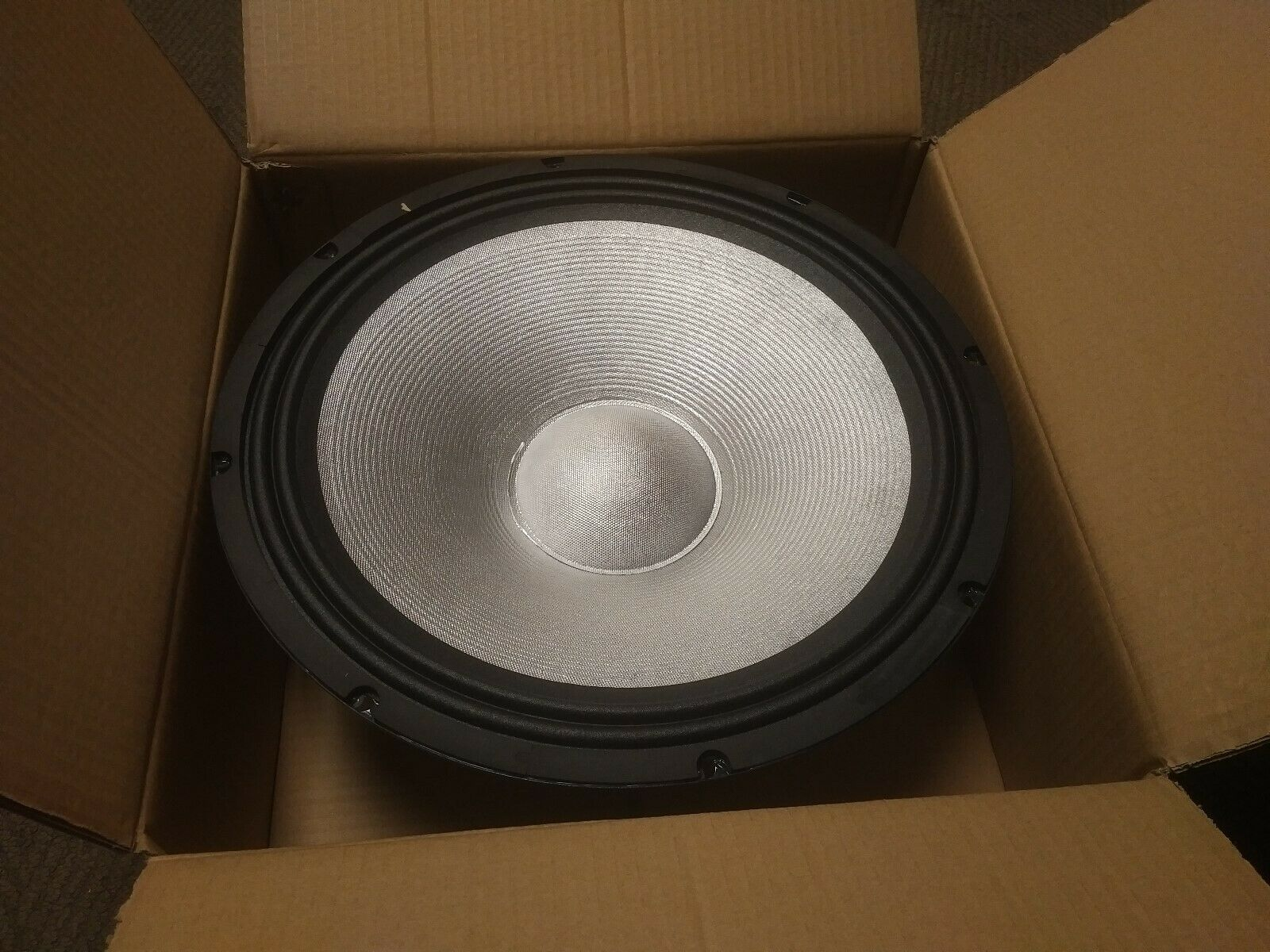 "Pair of (2)Technical Pro PW15M  15"" 1200W PA/DJ Replacement silver Woofer"