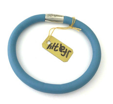 Brighton Woodstock Light Blue Leather Bracelet, Size M/L, New - $37.99