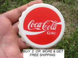 VTG 80'S RARE COCA COLA BOTTLE OPENER CAP SHAPE HANDHELD GERMAN EUROPEAN... - $14.90