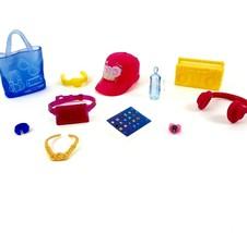 Barbie Fashion Doll Accessories Pack iPad Water Bottle Hat Radio Bags Wa... - $6.99