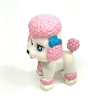 Littlest Pet Shop LPS French Poodle White Pink Fuchsia with Blue Eyes - $19.79