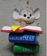 Hallmark Teacher Keepsake Ornament Mouse 1989 MIB - $7.00
