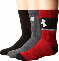 Under Armour-UA Next Crew Socks Kids Youth YMD 10.5-13.5 #389G - $13.85