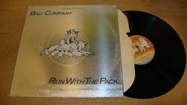 Bad Company - Run With The Pack- LP Record  G+ VG - $5.25