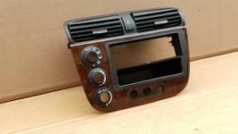 01-05 Acura EL Honda Civic Radio Bezel AC Climate Control Dash Vents WoodGrain image 2