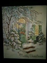 Beautiful Doorway Entrance Vintage Christmas Card BOGO Sale  - £10.74 GBP