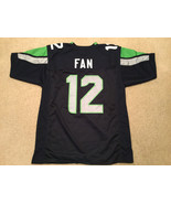 UNSIGNED CUSTOM Sewn Stitched 12th Fan Blue Jersey - Extra Large - $33.99